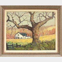 John F. Enser (American, 1898-1968)      Tree in Autumn