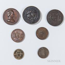 Seven Civil War-era Unit and Corps Medallions