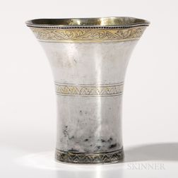 Parcel-gilt Silver Beaker