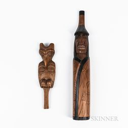 Two Northwest Coast Wood Carvings