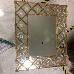 Modern Venetian Glass Mirror