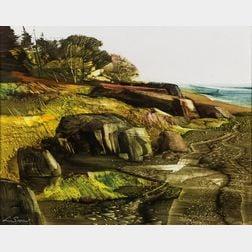 Laurence Sisson (American, 1928-2015)      Rocky Coast
