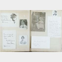 (Autograph/Scrapbook, early 20th Century)