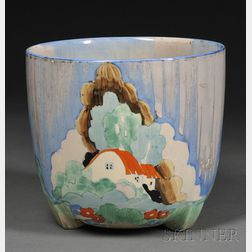 Clarice Cliff Newlyn Pattern Pottery Planter