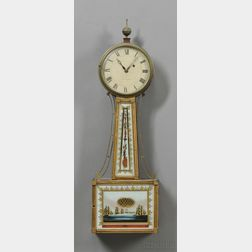 Federal Mahogany and Gilt-gesso Patent Timepiece