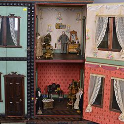 Group of Dolls and Dollhouse Accessories