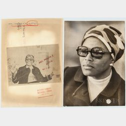Two Press Photographs of Betty Shabazz