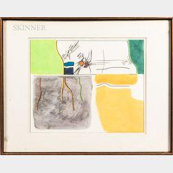 John Cheney Wood (American, 1922-2012)      Landscape III
