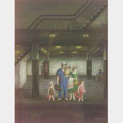 Edna Eicke (American, 20th Century)  The Subway Platform