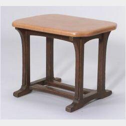 Arts & Crafts Oak Footstool