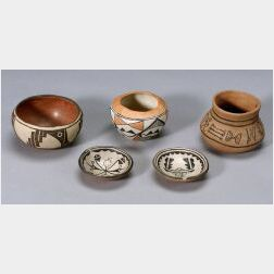 Five Southwest Painted Pottery Items