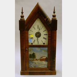 New Haven Clock Co. Steeple Clock and Modern Regulator Wall Clock