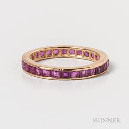 14kt Gold and Ruby Eternity Band