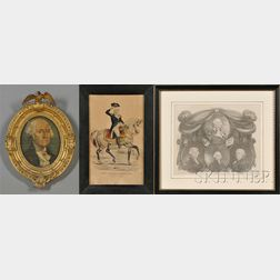 Three Framed Works Depicting George Washington