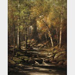 George Harrington (American, 1833-1911)      Wooded Brook