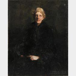 Abbott H. Thayer (American, 1849-1921)      Portrait of Helen Bigelow Merriman