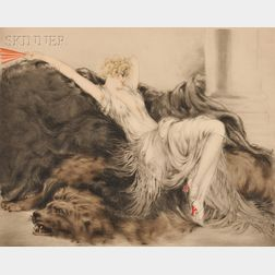 Louis Icart (French, 1888-1950)      Paresse (Laziness)