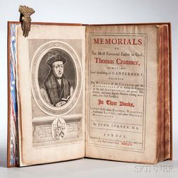 Strype, John (1643-1737) Memorials of the Most Reverend Father in God, Thomas Cranmer.