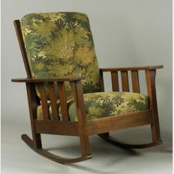 Quaint Arts & Crafts Morris Rocking Chair