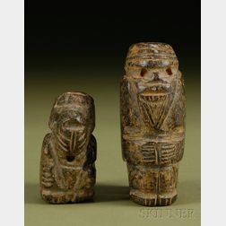Two Pre-Columbian Carved Stone Figures
