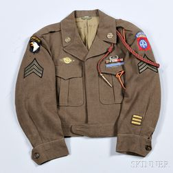 Eisenhower Jacket Owned by Sargent Wade Martin, 82nd and 101st Airborne Divisions