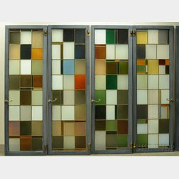 Eight Large Stained Glass Panels
