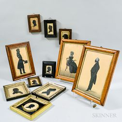 Ten Framed Silhouettes