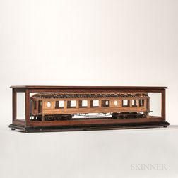 Scratch-built Wooden Patent Model of a Railcar