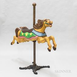 "C.W. Parker Company ""Jumper"" Polychrome Carved Carousel Horse"