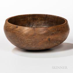 Hawaiian Wood Poi   Bowl