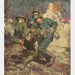 Jerome George Rozen (American, 1895-1987)  World War I Illustration.