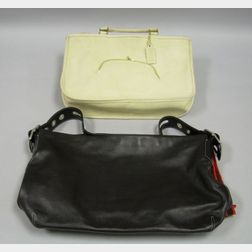 Two Coach Leather Handbags