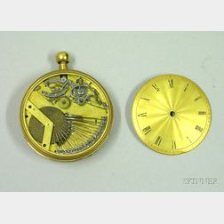 Gold Open-Face Sur-Plateau Musical Pocket Watch