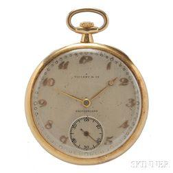 18kt Gold Open Face Pocket Watch, Patek Philippe, Tiffany & Co.