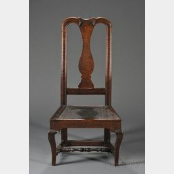 Queen Anne Carved Tiger Maple Vase-back Side Chair
