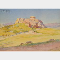 Harold Broadfield Warren (American, 1859-1934)      View of the Acropolis