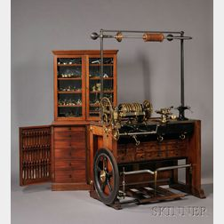 Holtzapffel & Company Rose Engine Lathe No. 1636 and Cabinet of Accessories