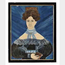Ruth W. Shute (1803-1882) and Dr. Samuel A. Shute (1803-1836)      Portrait of Electa Snow Pierce