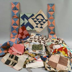 Large Group of Cotton Quilt Blocks