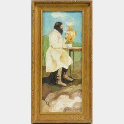 Heorhiy (Georgii) Narbut (Ukrainian, 1886-1920)      Portrait of a Man