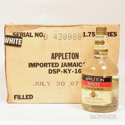 Appleton White Jamaica Rum, 4 1.75 Liter bottles (oc)
