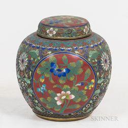 Cloisonne Covered Jar
