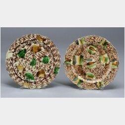 Two Staffordshire Lead Glazed Creamware Plates