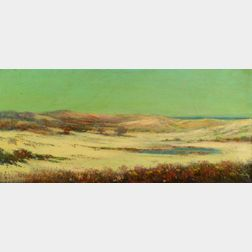 Louis H. Richardson (American, 1853-1923)    Quiet Dunes and Tidal Pool