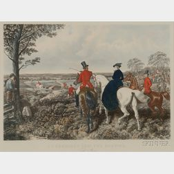 After John Frederick Herring, Sr. (British, 1795-1865)      Lot of Four Plates from J.F. Herring Senr. Fox Hunting.