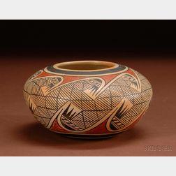 Southwest Polychrome Pottery Bowl