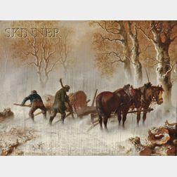 Carl Heinrich Hoffmann (German, 1818-1896)      Loading the Lumber Cart