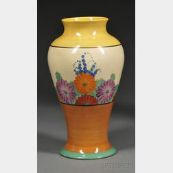 Clarice Cliff Bizarre Ware Gayday Pattern Vase