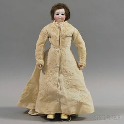 French Bisque Head Lady Doll