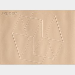 Josef Albers (German/American, 1888-1976)      Intaglio Solo V